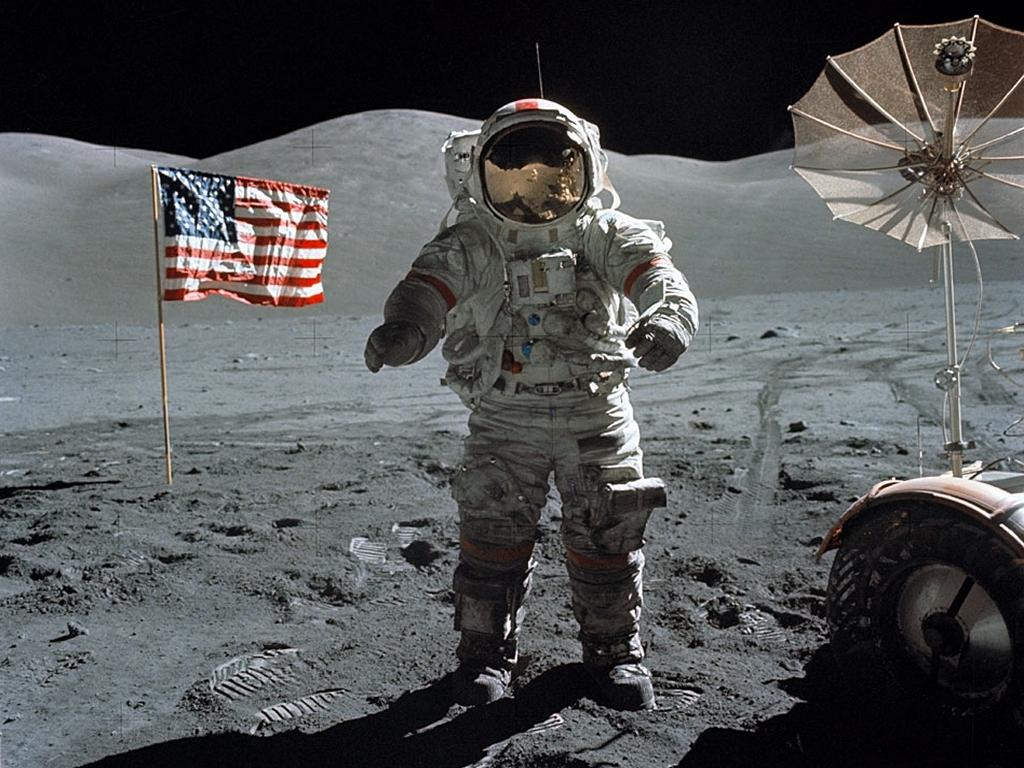 vlag op de maan amerika