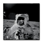 Bean Conrad Apollo 11 Tile Coaster