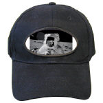 Alan Bean on Moon Apollo 12 Black Cap
