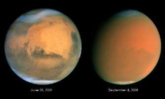 Click for the Mars Dust Storm